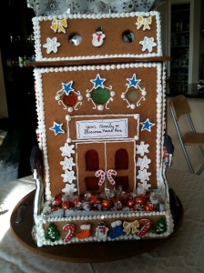 Porch and rooftop are containers for re-fillable party chocolates.