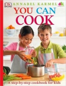 You Can Cook:  a step-by-step cookbook for kids, by Anabel Karmel.  London:  DK, 2010.