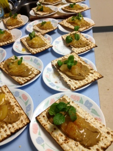 "Matzoh, Sunbutter and Applesauce ""Haroset"""
